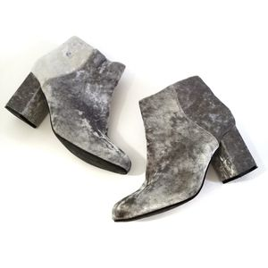 diba | Silver Booties Crushed Velvet size 10 shoes